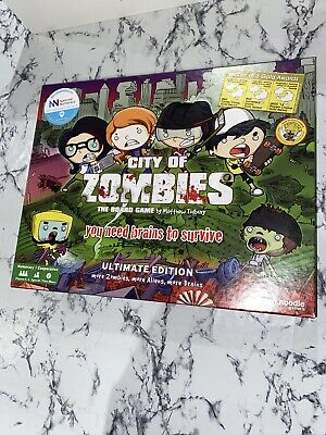 City Of Zombies Board Game Ultimate Edition Award Winning VGC Maths Home School • 34.99£