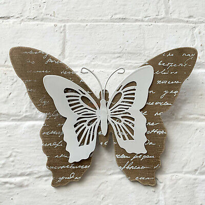 Wood & Metal Butterfly Home Decorative Wall Hanging Art Sculpture Ornament Gift  • 8.99£