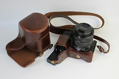 $ CDN24.69 • Buy PU Leather Case Bag Strap For Sony A6400 A6300 18-135mm Or 35mm F1.8 Lens