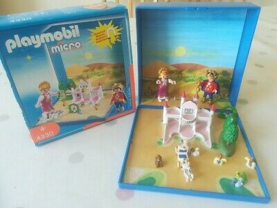 Playmobil 4330 Micro Fairy Tale Castle Magnetic Set.  Complete, Palace Royal Vgc • 10£