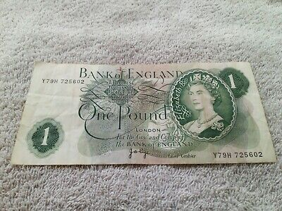 Bank Of England One Pound Note Signed J B Page - Y79H • 2.89£
