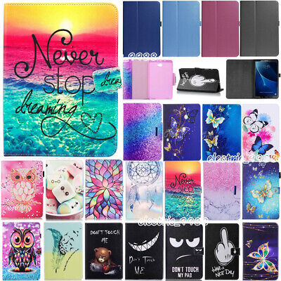 AU15.76 • Buy For Samsung Galaxy Tab A 8.0 SM-T350 SM-T355Y Pattern Leather Smart Cover Case