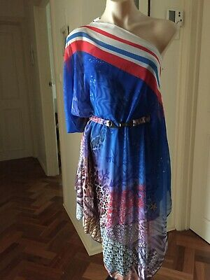 AU120 • Buy Women's  One Shoulder Kaftan  By Y- London Marine Print Size S