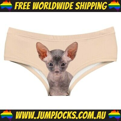 Women's Pussy Cat Hipster Briefs - Panties, Sexy *FREE WORLDWIDE SHIPPING* • 7.15£