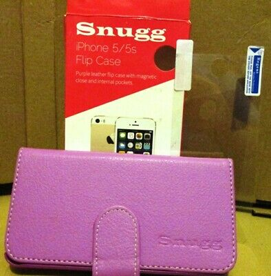 Iphone 5 5s Phone Cover - Snugg PINK LEATHER With FAUX (Never USED) • 6.75£