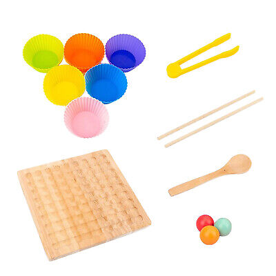 £20.34 • Buy   Toy Wooden Educational Toys For 3 4 5 Year Old Clip Bead Game