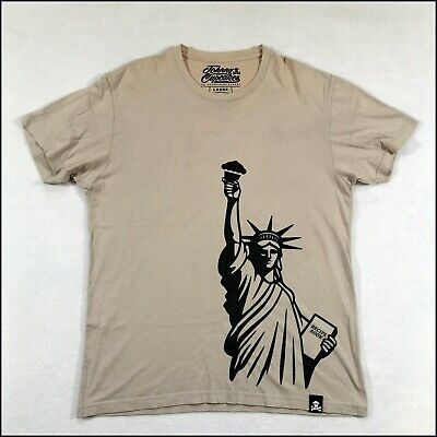 £21.95 • Buy Johnny Cupcakes NYC T-shirt   Large   Beige   Statue Of Liberty   Rare