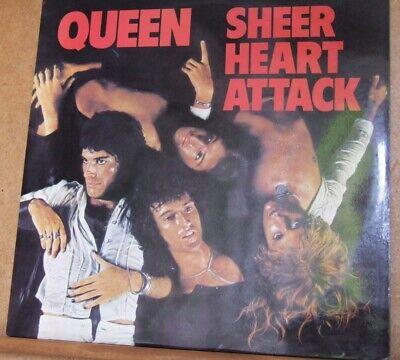 Queen - Sheer Heart Attack Emi Emc 3061 Trident   Ex Playing Copy • 20£