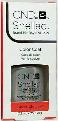 AU13 • Buy CND Shellac Silver Chrome UV LED Gel Nail Polish Base Top Coat 7.3ml 0.25oz