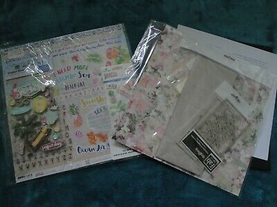 Fab Scraps Floral Charms Kit With FREE Paper House Paradise Found Scrapbook Kit • 7£