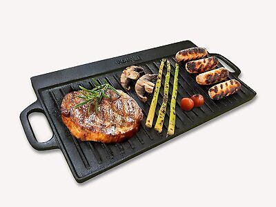 Homiu Cast Iron Griddle Pan, Reversible Double Sided And Non-Stick • 16.55£