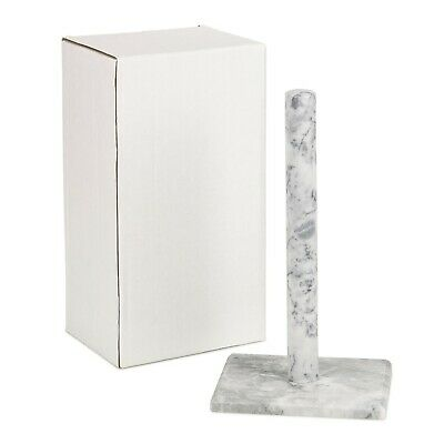 Homiu White Marble Paper Towel Holder (Freestanding) • 11.50£