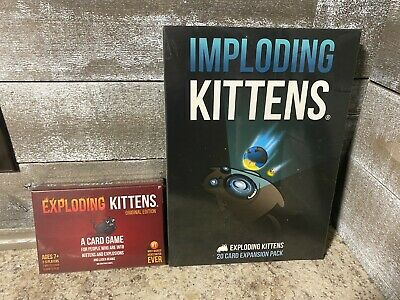 AU35.60 • Buy Exploding Kittens Game And Imploding Kittens Expansion Pack Sealed NIB