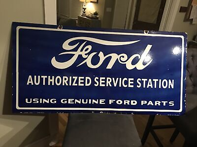 $ CDN268.92 • Buy Large Double Sided Ford Service Station Porcelain Sign