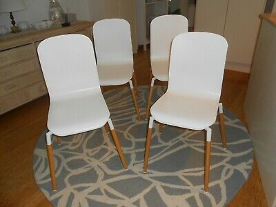 AU180 • Buy FREEDOM FURNITURE Dining Chairs X 4, Modern White, Beech Legs