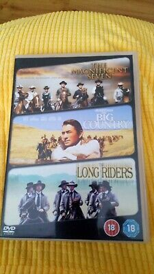 The Magnificent Seven/ The Big Country/ The Long Riders (DVD, 2009 Watched Once • 1.90£