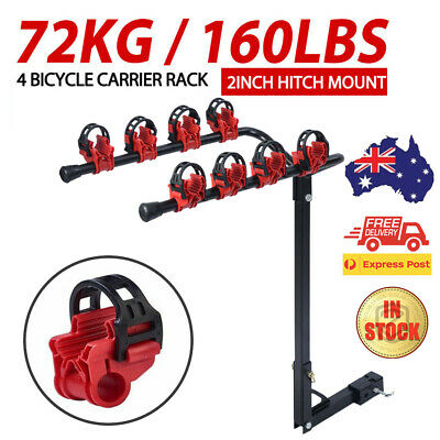AU86.69 • Buy 4 Bicycle Carrier Car Rear Bike Rack 2  Towbar Hitch Mount Steel Foldable