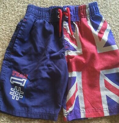 Boys Swimming Shorts Union Jack Age 3-4 Years • 1.25£