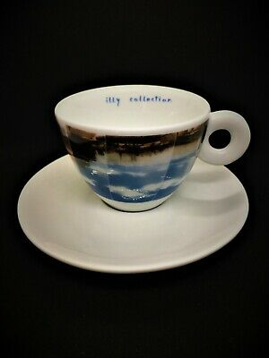 ILLY Art Collection 2001 P.S 1 Koop CAPPUCCINO CUP & SAUCER rare Twin Towers Cup • 65£