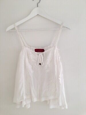 AU10 • Buy Tigerlily White Embroidery Cami Top Size 8