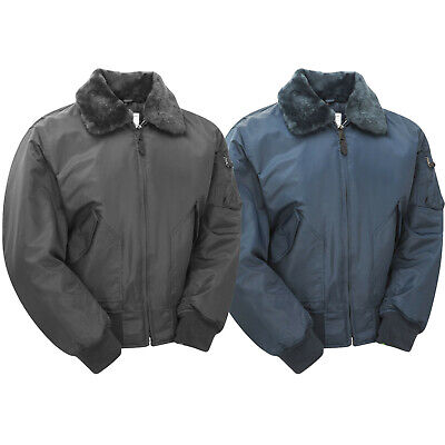 £39.95 • Buy MA2 Flight Jacket US Army Security CWU Flying Air Force Fur Collar Padded Bomber
