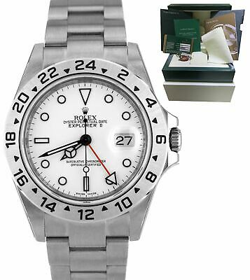 $ CDN19728.33 • Buy NOS NEW 2010 STICKERED Rolex Explorer II REHAUT 3186 White 40mm Watch 16570 T