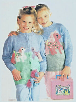 Girls My Little Pony Jumper And Cardigan Double Knit Knitting Pattern 342 • 1.72£