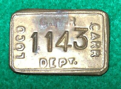 Great Western Railway Loco Carriage Brass Paycheck • 1.99£
