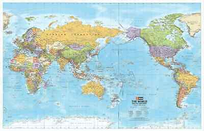 AU59.95 • Buy World Hema Political (Pacific) 1010 X 650mm Large Wall Map