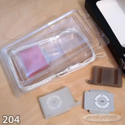 ISound Silicon Protective Cases Skins IPod Shuffle 2nd Grey Gen White Pink 3pack • 1.99£