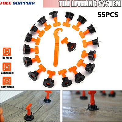 55pcs Tile Leveling System Kits Leveler Tile Spacer Wall Floor Tool Constructio • 7.59£