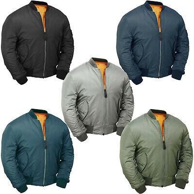 £29.90 • Buy MA1 Flight Bomber Jacket Combat Army Military Air Force US Pilot Padded Cobles