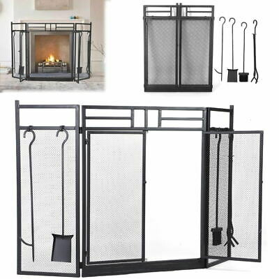 £81.13 • Buy Metal Fire Guard Freestanding Panel Spark Fireplace Screen Protector Safety Cove