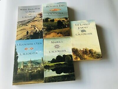 E M Forster - 5 Books - Mint - Howards End/Maurice/Room With A View /Angels Etc • 15£