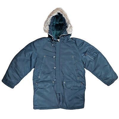 $ CDN103.25 • Buy N3B Parka Army Military Style Outdoor Warm Insulated Padded Hooded Jacket Navy