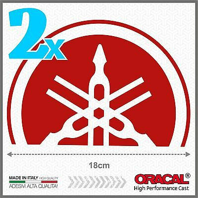 AU17.46 • Buy 2pcs Stickers Red Small Compatible With Yamaha Tmax 01-07 Diapason T-Max Shield