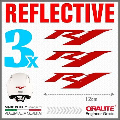 AU16.03 • Buy 3pcs Reflective Stickers Red Compatible With Yamaha YZF R1 Motorcycle