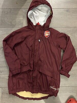 Boys Waterprof Arsenal Jacket With Lining 11-12 • 2.50£