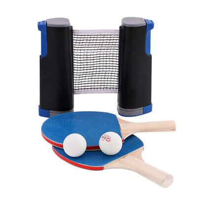 Instant Table Tennis With Two Bats And Net-Ping Pong Travel Portable Hot • 10.99£