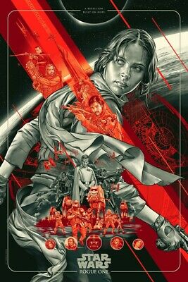 STAR WARS ROGUE ONE - By MARTIN ANSIN - MONDO 24x36  Screen Print Poster NEW! • 99.99£