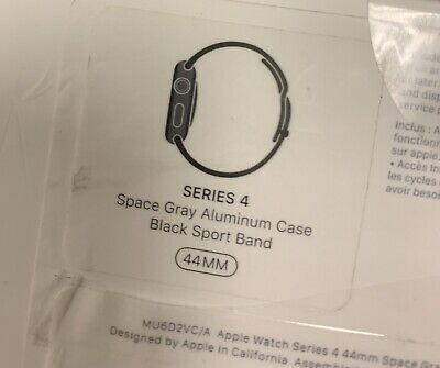 $ CDN380 • Buy Apple Watch Series 4 44 Mm Space Gray Aluminum Case With Black Sport Band (GPS)