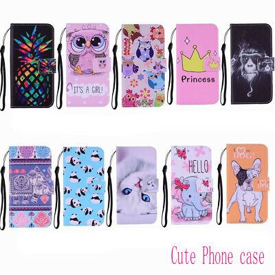 $ CDN4.59 • Buy 3D Cartoon Flip Painted Leather Phone Case Cover For Samsung S5 S6 S7 S8 S9 S10+