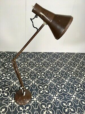 Vintage Brown Anglepoise Desk Lamp Industrial Chic  • 70£