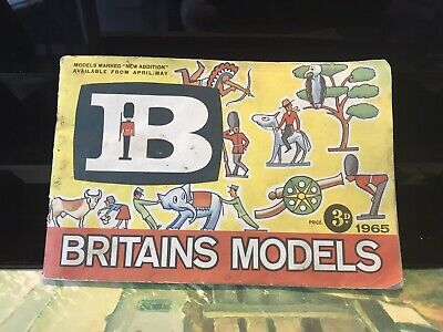 Original Britains Models 1965 Catalogue Toy Soldiers Zoo / Farm Animals Etc Used • 11.99£