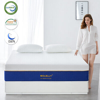 AU139.70 • Buy Molblly Queen Mattress 25cm Queen Bed Memory Foam Cool Gel Memory Foam