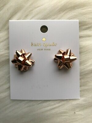 $ CDN19.71 • Buy New Kate Spade Bourgeois Bow Stud Earrings Rose Gold Super Cute!