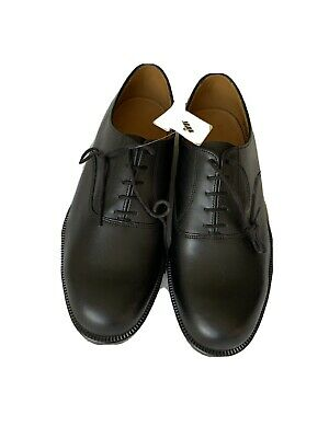 Sanders Officers Leather Oxford Shoes, Uk-made, Black Size 10w New In Box • 29£