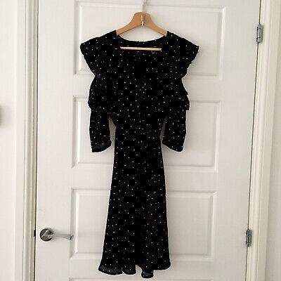 Primark Black And White Polka Dot Dress With Cut Out Sleeves • 1.20£