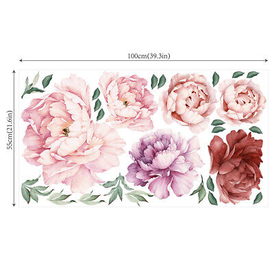 Painted Flower Decals Stickers Nursery Wall Window Decoration Art Ornament Gift • 7.69£