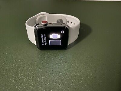 $ CDN301.32 • Buy Apple Watch Series 3 38mm Stainless Steel Case With Soft White Sport Band (GPS +